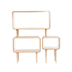 Teve | set of 3 cabinets  - oak white oil | Shelving modules | Wiinberg