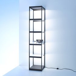 Light shelf Q40 | GERA light system 6 | Illuminated shelving | GERA