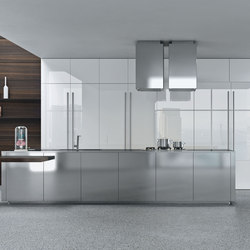 Opera | acciaio | Fitted kitchens | Snaidero USA
