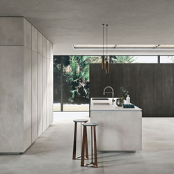 Way ceramica | calce grigio | Fitted kitchens | Snaidero USA