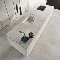 Way ceramica | calce grigio | Island kitchens | Snaidero USA