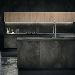 Way ceramica | ossido nero | Fitted kitchens | Snaidero USA