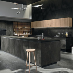 Way ceramica | ossido nero | Island kitchens | Snaidero USA