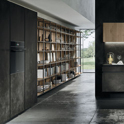 Way ceramica | ossido nero | Shelving | Snaidero USA