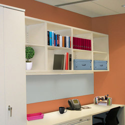Aurora 2-Tier Wall Mounted Shelving | Office shelving systems | Aurora Storage