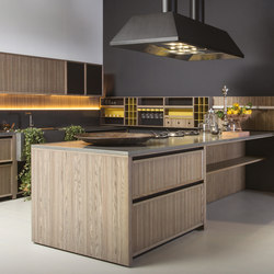 Lignum peninsula | Fitted kitchens | Comprex S.r.l.
