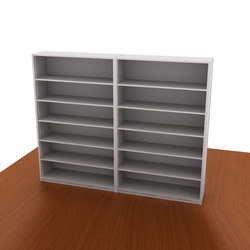 Aurora Library Shelving Add-on (Closed Back) | Office shelving systems | Aurora Storage