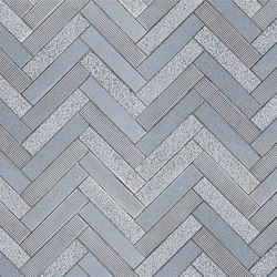 Offset Herringbone | Baldosas de piedra natural | Claybrook Interiors Ltd.