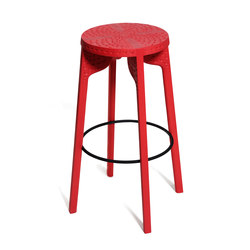 Tattoo Bar Stool (carved) | Tabourets de bar | Zanat