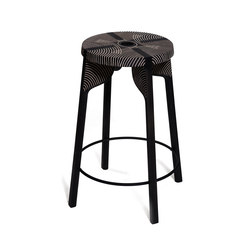 Tattoo Bar Stool (carved) | Taburetes de bar | Zanat