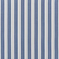 Signature Elizabeth Street Fabrics | Joelle Ticking Bleu | Curtain fabrics | Designers Guild