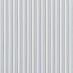 Signature Elizabeth Street Fabrics | Annick Ticking Bleu | Vorhangstoffe | Designers Guild