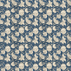 Signature Elizabeth Street Fabrics | Sayle Batik Floral Sea | Curtain fabrics | Designers Guild