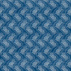 Signature Elizabeth Street Fabrics | Annaliese Floral Brilliant Blue | Curtain fabrics | Designers Guild