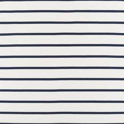 Signature Modern Glamour Fabrics | Basie Stripe - Riviera Blue | Curtain fabrics | Designers Guild