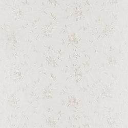 Signature Modern Glamour Fabrics   Camilla Embroidery - White Pearl   Tissus pour rideaux   Designers Guild
