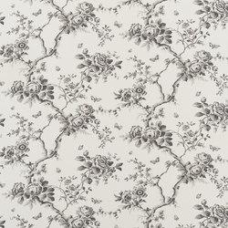 Signature West Village Fabrics | Ashfield floral - etching | Curtain fabrics | Designers Guild