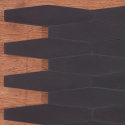 Long Hex Black Concrete Tiles Granada Tile
