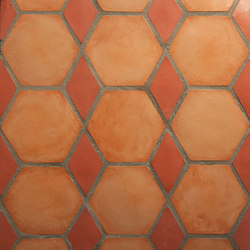 Shapes - Hexagons-red-diamonds | Außenfliesen | Granada Tile