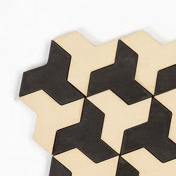 Discus - CreamBlack | Piastrelle cemento | Granada Tile