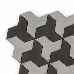 Discus - SilverBlack | Baldosas de hormigón | Granada Tile
