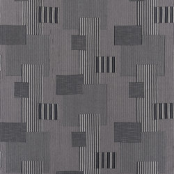 Signature West Village Fabrics | Rivington Patchwork - Vintage Black | Curtain fabrics | Designers Guild