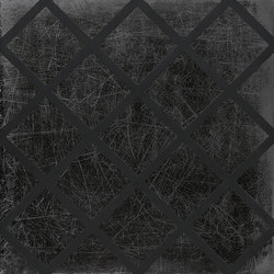 L'H Nero Grid | Lastre ceramica | EMILGROUP