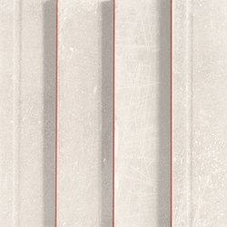 L'H Bianco Righe | Ceramic mosaics | EMILGROUP