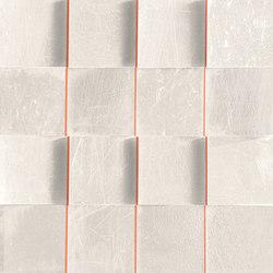 L'H Bianco Quadri | Ceramic mosaics | EMILGROUP