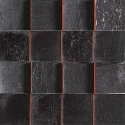 L'H Nero Quadri | Ceramic mosaics | EMILGROUP
