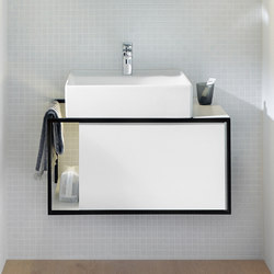 Junit | Ceramic washbasin incl. vanity unit | Vanity units | burgbad