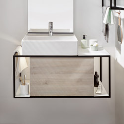 Junit | Ceramic washbasin incl. vanity unit | Armarios lavabo | burgbad