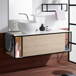 Junit | Mineral cast washbasin incl. vanity unit | Vanity units | burgbad