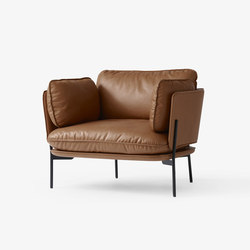 Cloud One Seater LN1 leather cognac | Fauteuils d'attente | &TRADITION