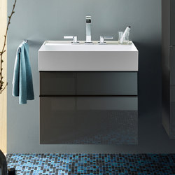 Yumo | Mineralguss-Waschtisch inkl. Waschtischunterschrank | Waschtischunterschränke | burgbad
