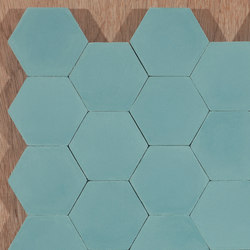 Hexagon-aqua | Floor tiles | Granada Tile