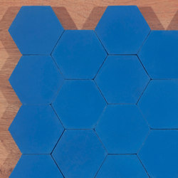Hexagon-blue | Floor tiles | Granada Tile