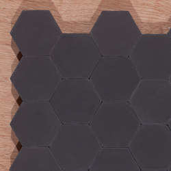 Hexagon-black | Floor tiles | Granada Tile