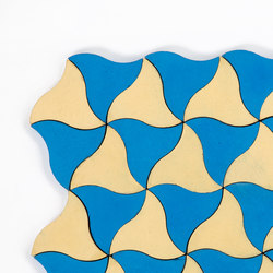 Kite-Yellow-Blue | Außenfliesen | Granada Tile
