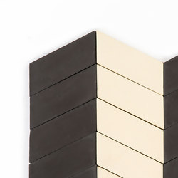 Long-Chevron-Parade-black-cream | Concrete tiles | Granada Tile