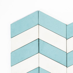 Long-Chevron-Waves-aqua-white | Concrete tiles | Granada Tile