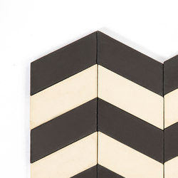 Long-Chevron-Waves-black-cream | Baldosas de suelo | Granada Tile