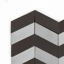 Long-Chevron-Waves-black-silver | Baldosas de suelo | Granada Tile