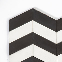 Long-Chevron-Waves-black-white | Concrete tiles | Granada Tile