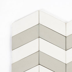 Long-Chevron-Waves-white-grey | Carrelages | Granada Tile