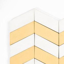 Long-Chevron-Waves-white-yellow | Baldosas de suelo | Granada Tile
