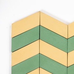 Long-Chevron-Waves-yellow-pine | Concrete tiles | Granada Tile