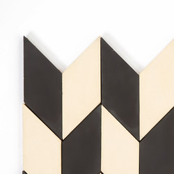 Short-Accordion-Hopscotch-black-cream | Baldosas de suelo | Granada Tile