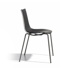 Zebra Tecnopolimero with 4-leg frame | Mehrzweckstühle | Scab Design