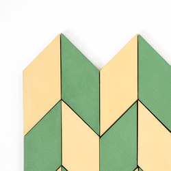 Short-Accordion-Hopscotch-yellow-pine | Carrelages | Granada Tile